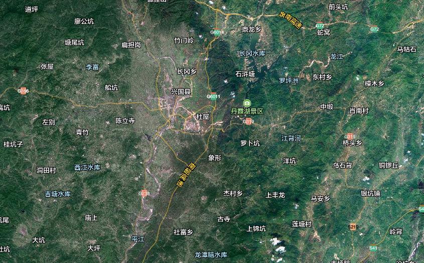 兴国地图,兴国卫星地图